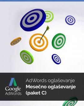 Mesečno oglaševanje (paket C) - vzdrževanje Google Adwords kampanje