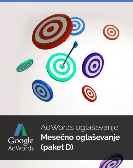 Mesečno oglaševanje (paket D) - vzdrževanje Google Adwords kampanje