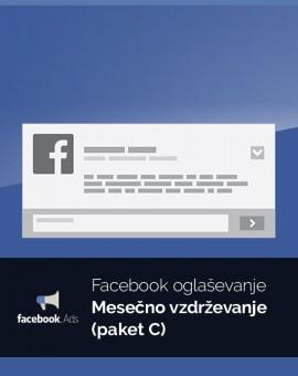 Mesečno oglaševanje (paket C) - vzdrževanje Facebook kampanje