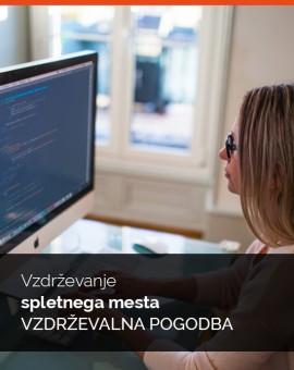 Vzdrževanje spletnega mesta -  Vzdrževalna pogodba