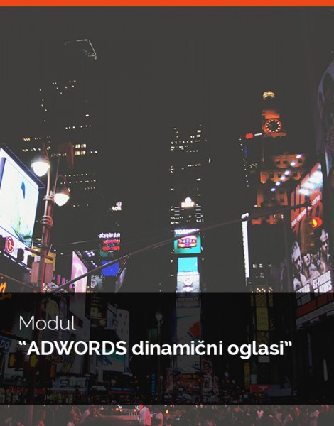 "Modul ""AdWords dinamični oglasi"""