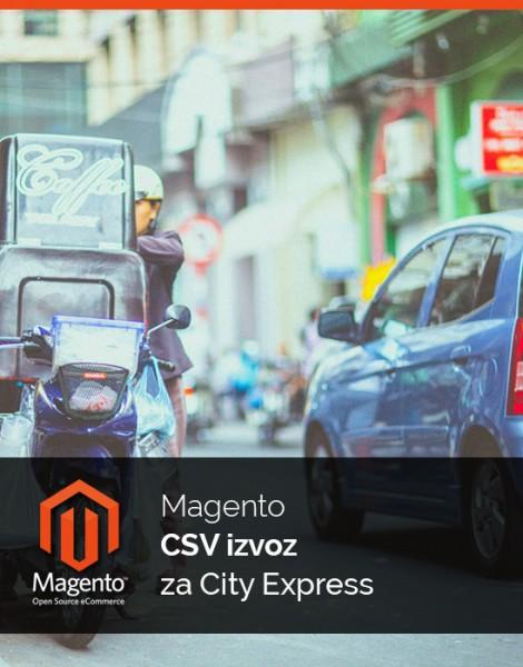 Magento CSV izvoz za dostavno službo City Express