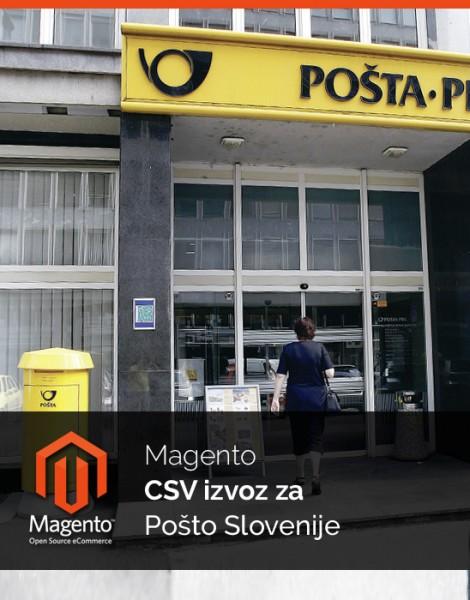 Magento CSV izvoz za Pošto Slovenije