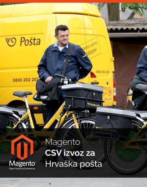 Magento CSV izvoz za Pošta Hrvaška