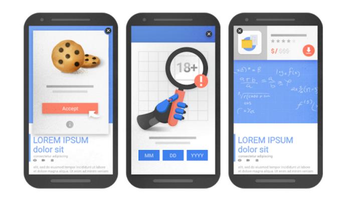 Google kaznuje pop-upe