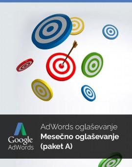 Mesečno oglaševanje (paket A) - vzdrževanje Google Adwords kampanje