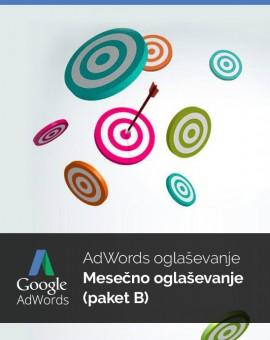 Mesečno oglaševanje (paket B) - vzdrževanje Google Adwords kampanje
