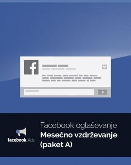 Mesečno oglaševanje (paket A) - vzdrževanje Facebook kampanje