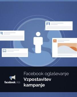 Vzpostavitev oglaševanja - Facebook oglasi