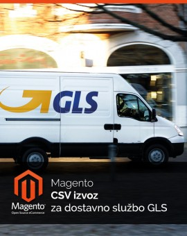 Magento CSV izvoz za dostavno službo GLS