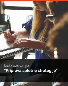 """Individualno izobraževanja """"Priprava spletne strategije"""""""