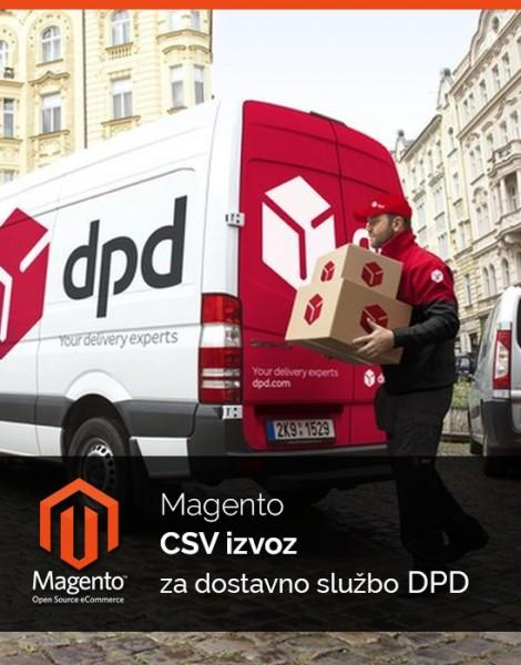 Magento CSV izvoz za dostavno službo DPD