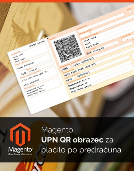 Magento UPN QR obrazec za plačilo preko predračuna